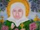 «Св. Матронушка Московская с крестом» холст на картоне, масло, 30х35. Август 2017